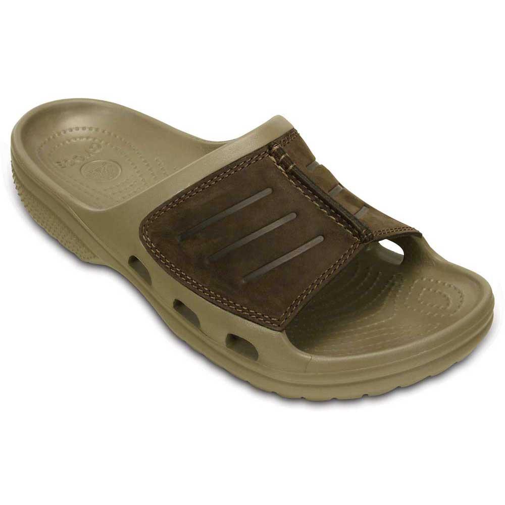 5c953a3adb2 Crocs Yukon Mesa Slide - Brown buy and offers on Xtremeinn