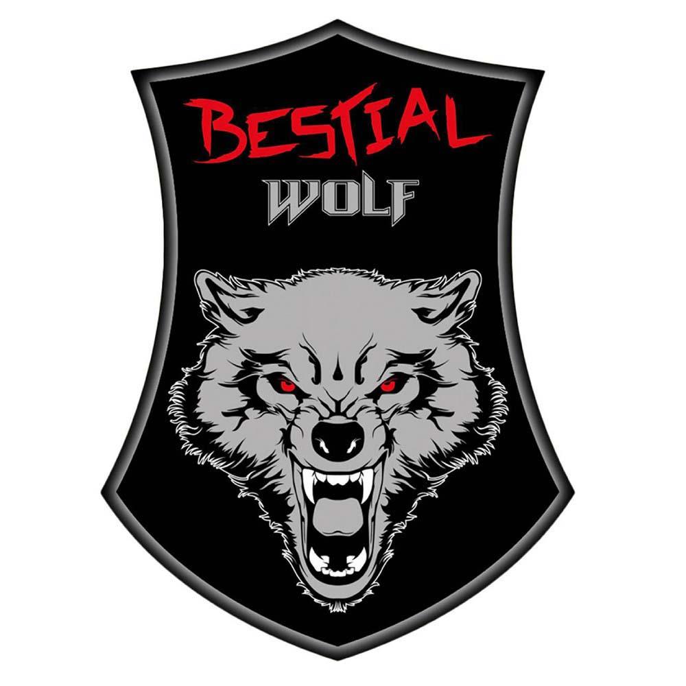 Bestial wolf sticker wolf badge