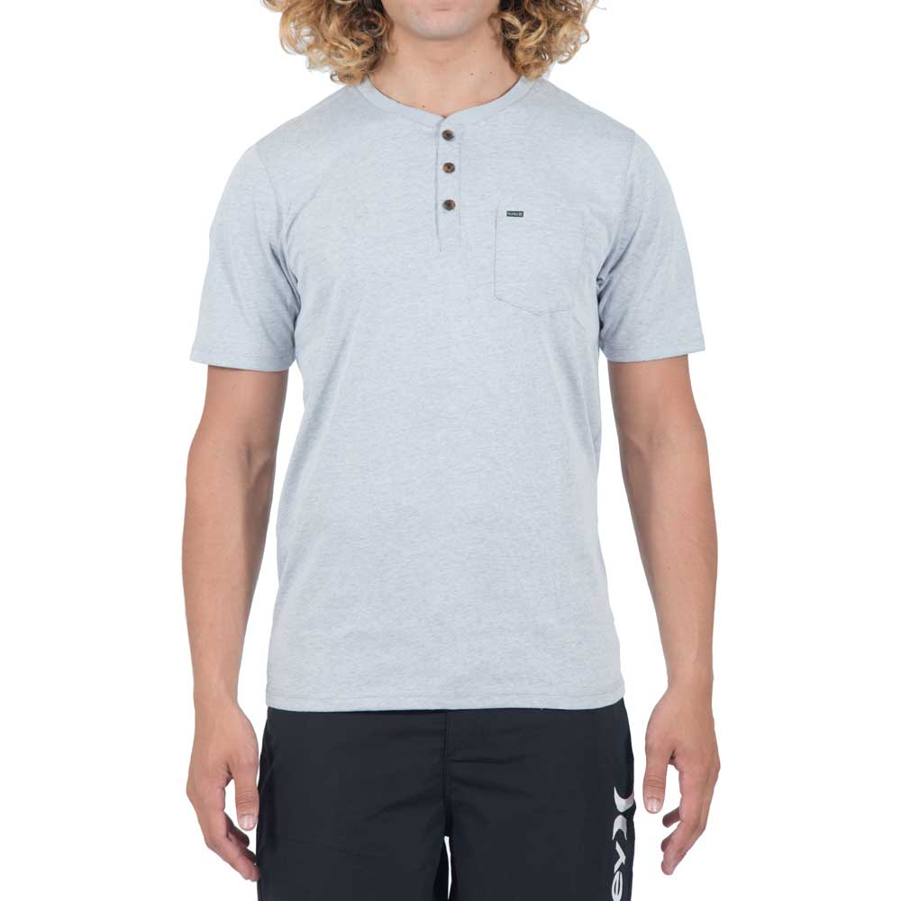 a417219c Hurley Dri Fit Lagos Henley 3.0 Grey buy and offers on Xtremeinn