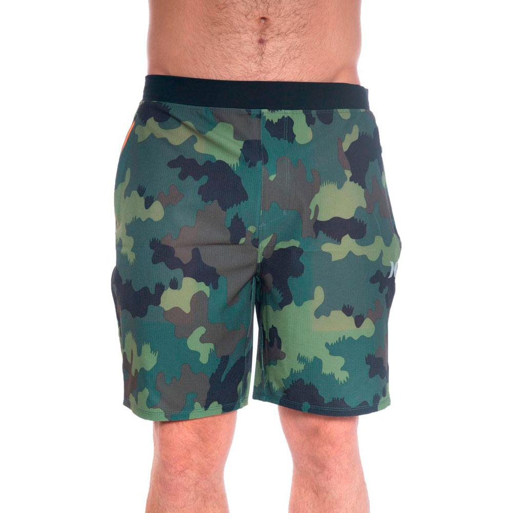 Walkshorts Uomo Hurley M Phantom Alpha Trainer Camo 18 Pantaloni e pantaloncini