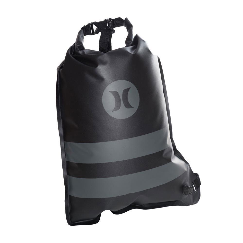Hurley Wet Dry Elite Roll Top Cinch Sack 19L Black 19c1d8db7ddec