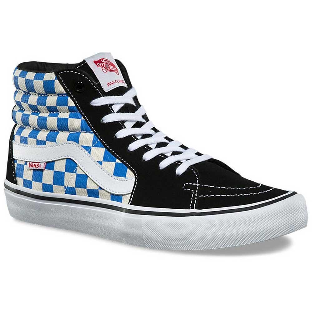 vans checkerboard blauw