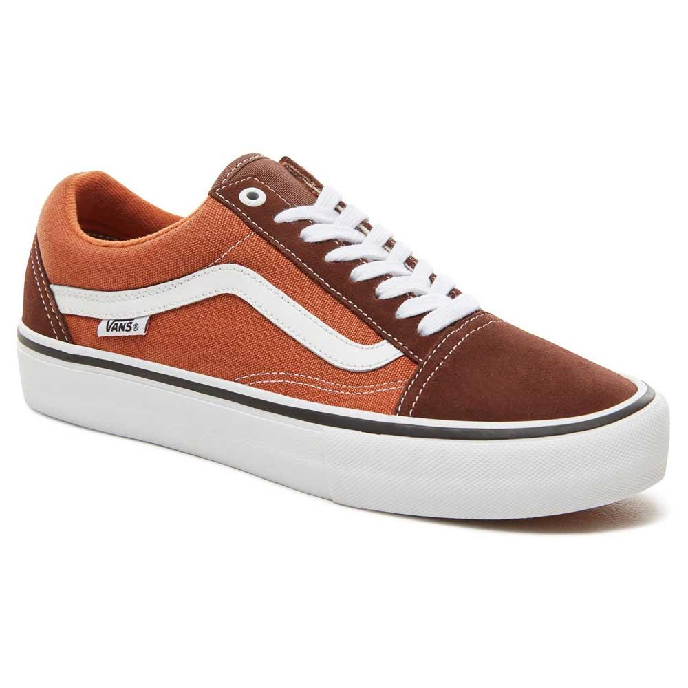 vans old skool baskets orange va38g1qw2 homme marron