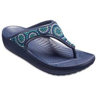 Crocs Sloane Embellished Flip- Beaded