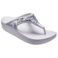 Crocs Sloane Graphic Etched Met Flip